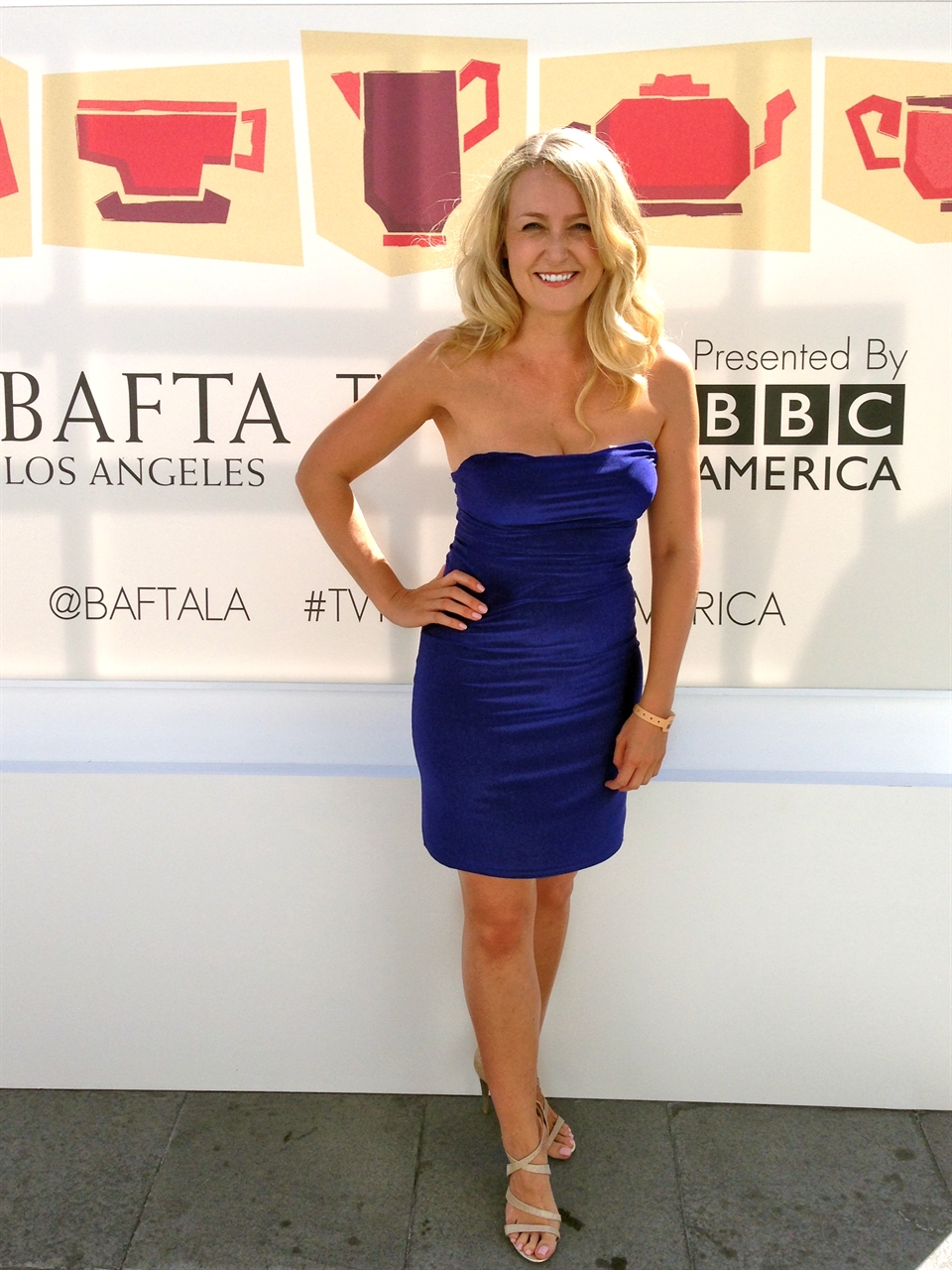 Janine at BAFTA TV Tea party for Emmy weekend