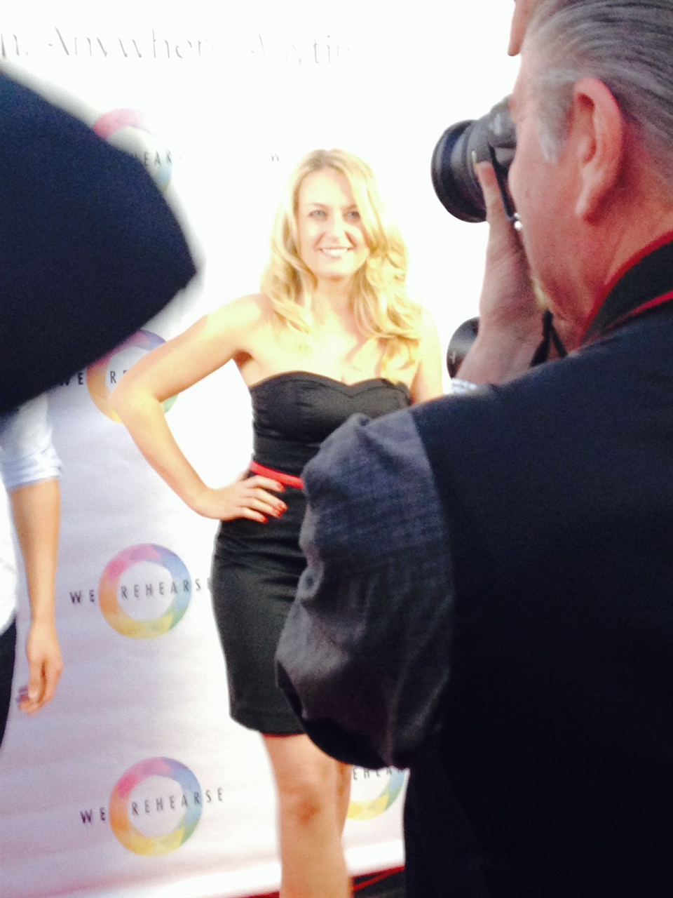 Janine on the red carpet attending the WeRehearse Launch Party event in Hollywood.