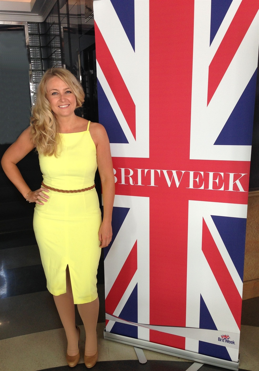 Janine attends one of Brit Weeks events at Hotel Shangrila taking place in Los Angeles.