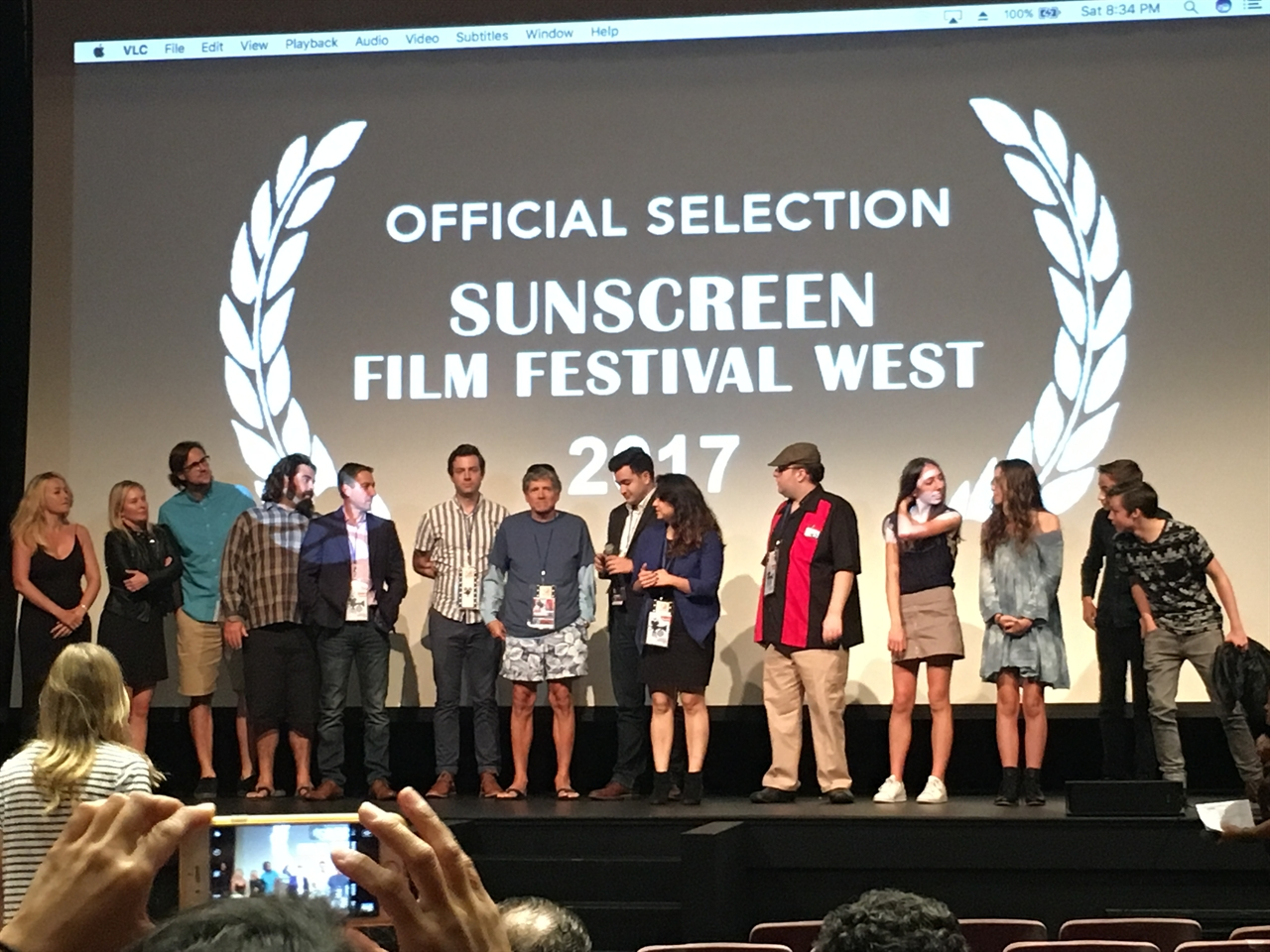 The cast and crew on the red carpet for big horror film F***, MARRY, KILL's premiere at Sunscreen Film Festival West in Cali.