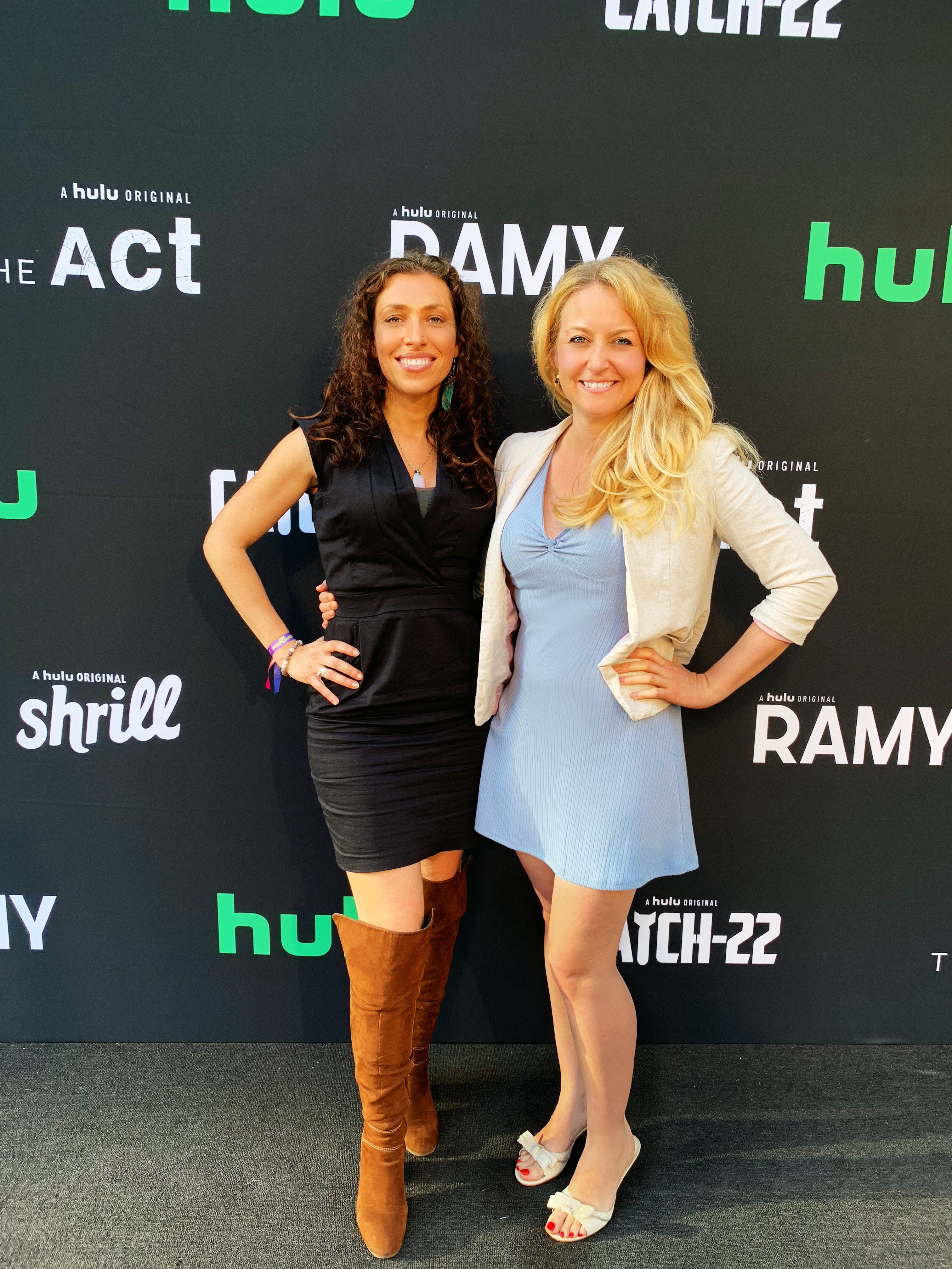 Janine attends the red carpet with Sandra De Sousa for Emmy Contenders with Hulu.