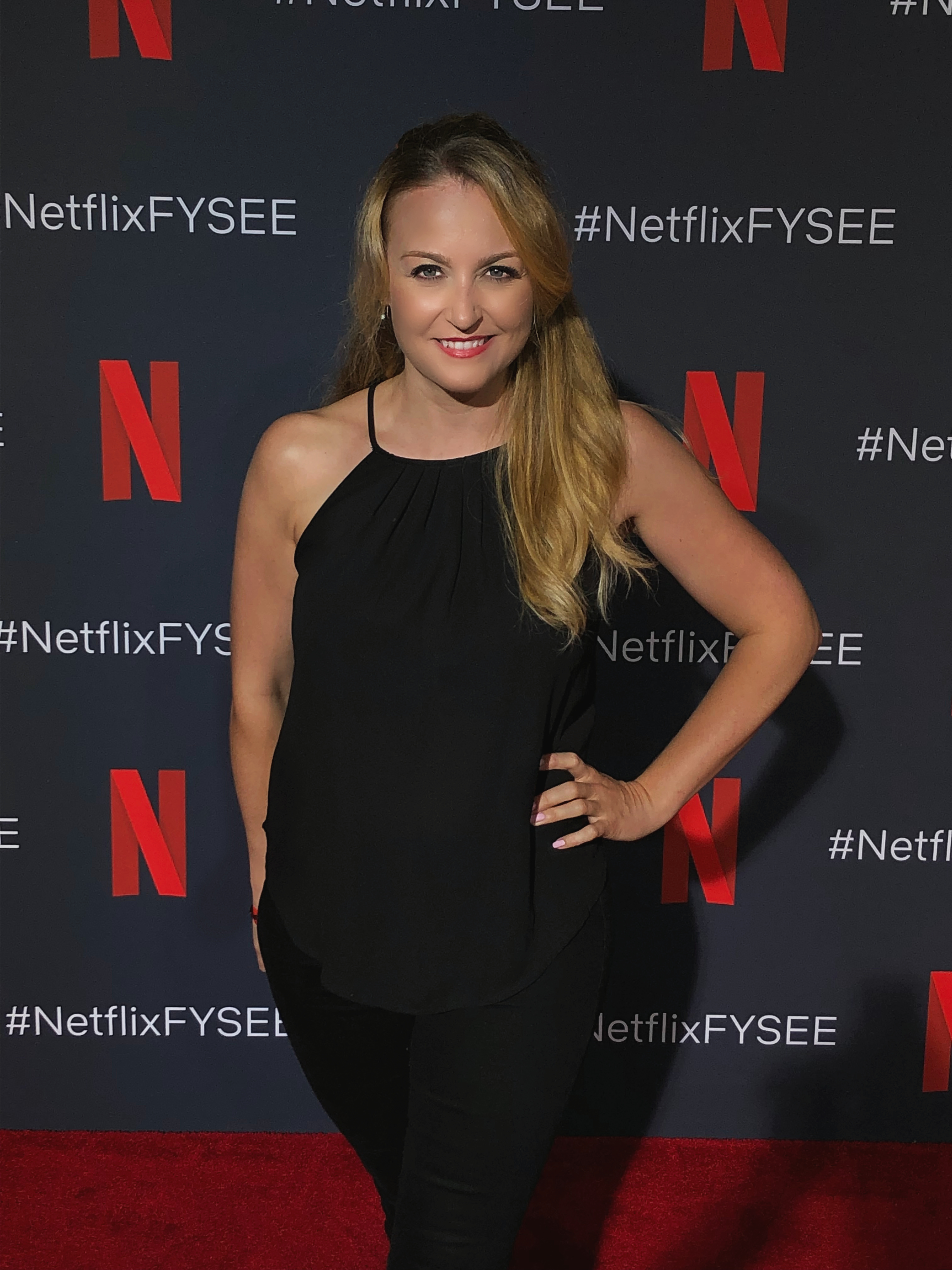 Janine attends the red carpet for Netflix FYC event in 2019, in Hollywood