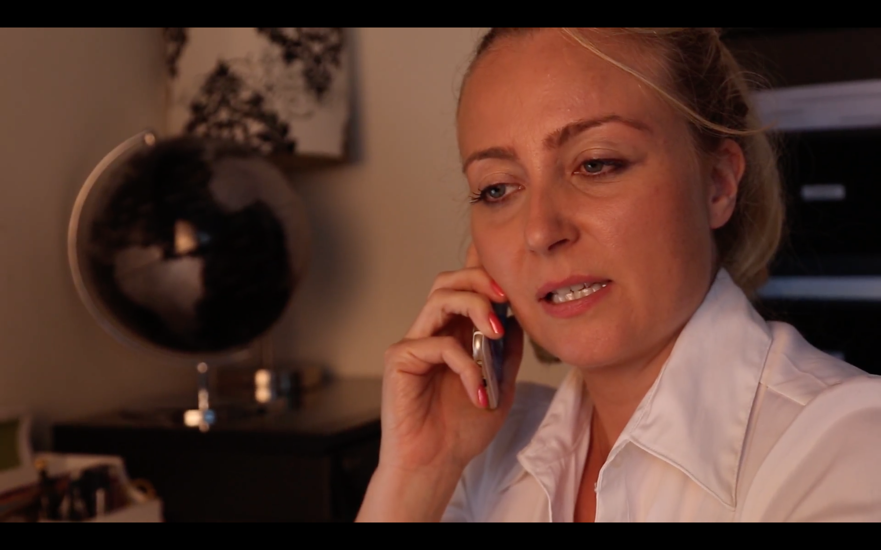 Still shot of Janine playing Dr Asher in Modern American Nightmare